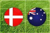 Denmark vs Australia football match