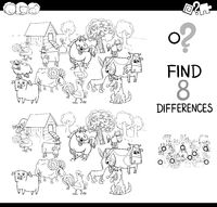 differences with farm animas color book
