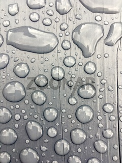 rain water on grey background