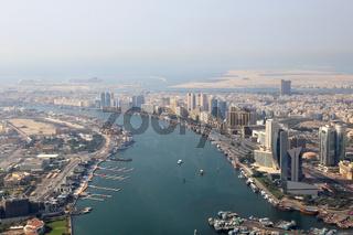 Dubai The Creek Luftaufnahme Luftbild