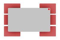 Rectangular surfaces, 3d illustration
