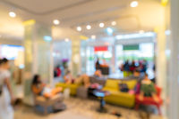 hotel lobby blurred background