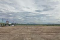 Empty airport airfield