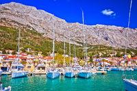 Baska voda waterfront sailing destination in Makarska riviera
