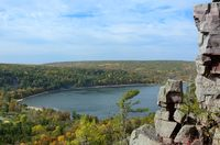 Devils Lake in the Fall