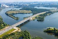 bird's-eye view of Novorizhskoye Shosse to Moscow