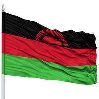 Malawi Flag on Flagpole