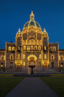 Evening View of Government House in Victoria BC in Canada