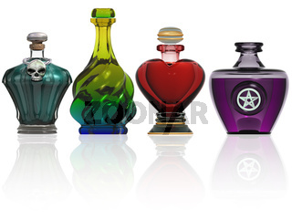 Collection of potion bottles