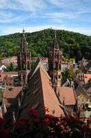 Freiburg Münster und Schlossberg