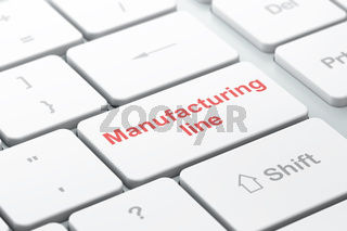 Industry concept: Manufacturing Line on computer keyboard background