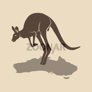 Kangaroo icon australia