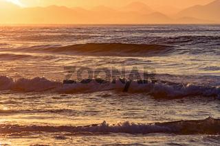 Tropical sunrise at beach