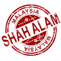 Red Shah Alam stamp