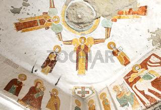 Fresko im Innern der Felsenkirche Daniel Qorqor, Gheralta Region, Tigray, Äthiopien