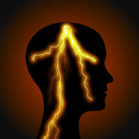 head with lightning