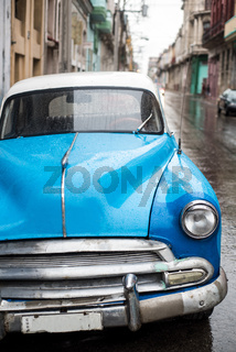 Street scene on rainy day in Havana,Cuba