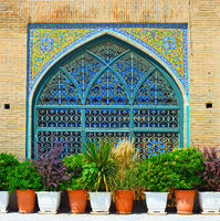 Shah Mosque wall. Tehran, Iran