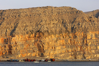 Steilküste der Halbinseln Musandam, Oman