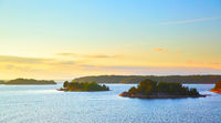 Small islands in the archipelago of Stockholm