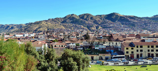 homes and streets of Cusco town