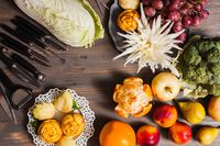 Chinese fruit carving
