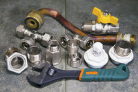 adjust wrench power grip and elements of water and gas shutoff valves