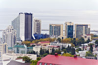 Panorama of Russian town Sochi