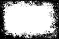 Black grunge texture border frame over white