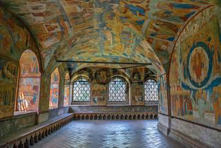Interior of St. John the Baptist Church, Yaroslavl, Russia