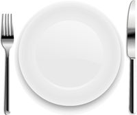 Plate With Spoon Isolated