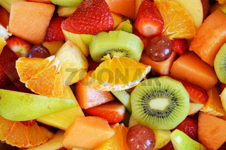 Fruit salad close up.