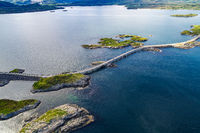 Atlantic Ocean Road aerial photography.