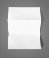 Blank folded White A4 paper sheet mockup template