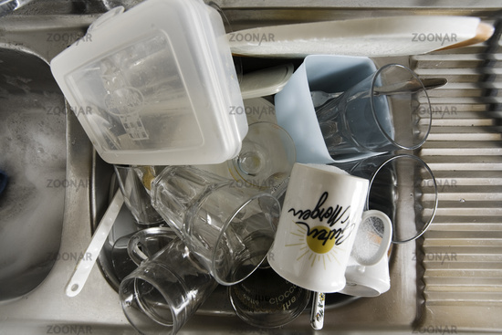 Geschirr Küche | Foto Schmutziges Geschirr In Einer Kuche Dirty Table Ware In A