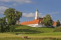 Kloster Reutberg mit Kuh