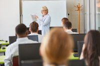 Studenten in einem Uni Seminar