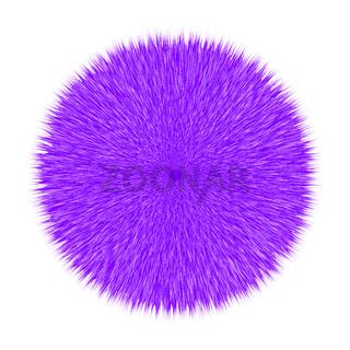 Purple Fluffy Vector Hair Ball