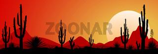 Mexico desert sunset 1