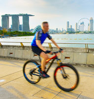 Singapore healthy lifestyle bike riding