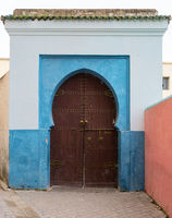 Color entrance gate with door in Fes