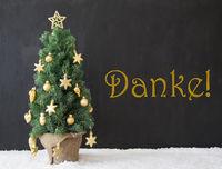 Christmas Tree, Danke Means Thank You, Black Concrete