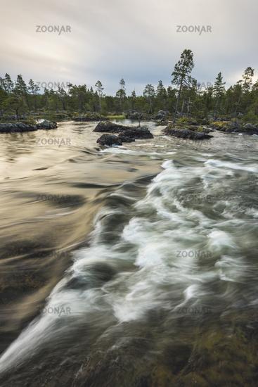 Morgenstimmung, Piteaelven, Lappland