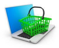 Basket on the laptop
