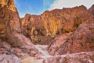 Multicolor and scenic Black Canyon