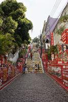 Escadaria Selarón, Stairs in Rio de Janeiro, Brazil