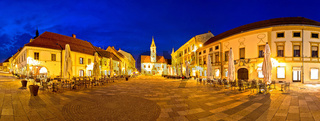 Town of Varazdin central square panorama