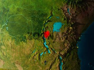 Orbit view of Burundi