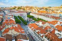 Lisbon Rossio square, Portugal