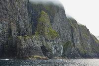Wild and rocky coast of Faroe Islands, Denmark